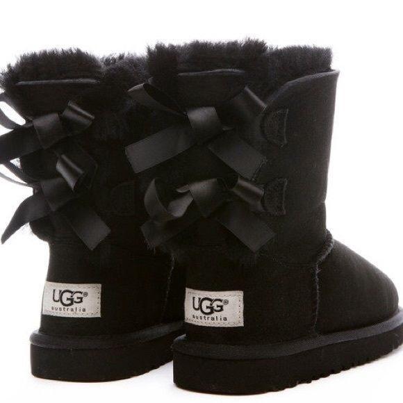 UGG Shoes   On Holdblack Bailey Bow